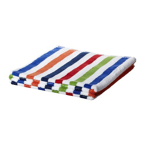 BANDSJON Bath towel, blue, multicolour 801.908.88 당일발송